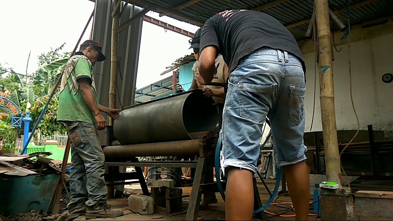 Cara roll plat buat cetakan buis beton dan gorong-gorong - YouTube