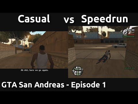 Casual VS Speedrun in GTA San Andreas #1 - Here we go again.
