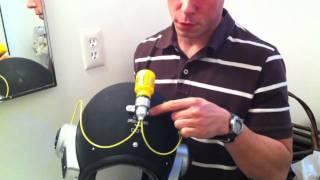 話題の発明「バリカン内蔵型ヘルメット」