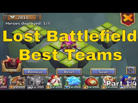 Best Lost Battlefield Teams In Castle Clash (Part 1/4)