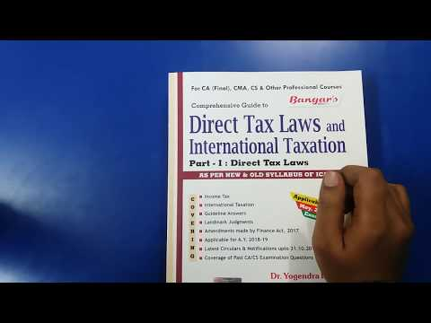 Direct tax and international Taxation Bangar- Complete information about the Book.