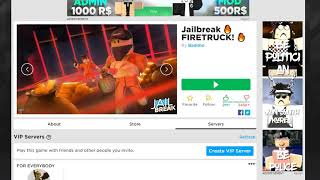 FREE ROBLOX JAILBREAK VIP SERVER!!! (MARCH 2019)