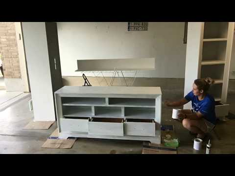 Chalk Paint Entertainment Center Remodel