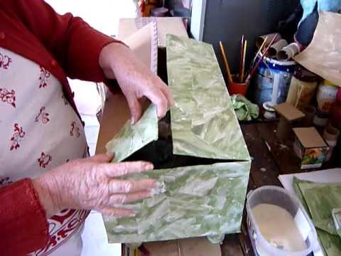Artesanato Passo a Passo - Reciclar Caixas de Papelão