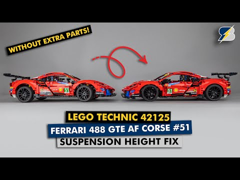 LEGO Technic 42125 Ferrari suspension height 2 minute fix