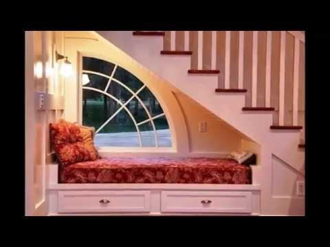 Идеи дизайна  Как рационально использовать место под лестницей