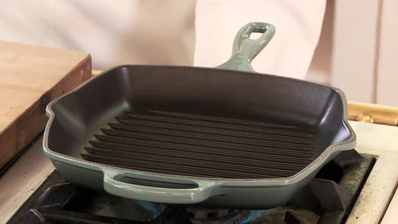 Le creuset signature grill pan grilled pork loin chops youtube ccuart Gallery