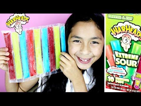 War Heads Extreme Sour Freezer Pops Slush Puppie & Smoothie Slush Bars Taste| B2cutecupcakes