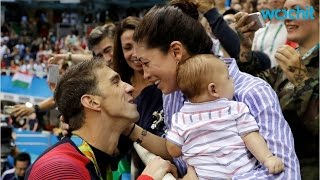 Michael Phelps Shares Olympic History With His Son Boomer