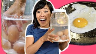 Eating 6-MONTH OLD Lime Water Preserved Eggs - fried, whipped, baked - How do they taste?