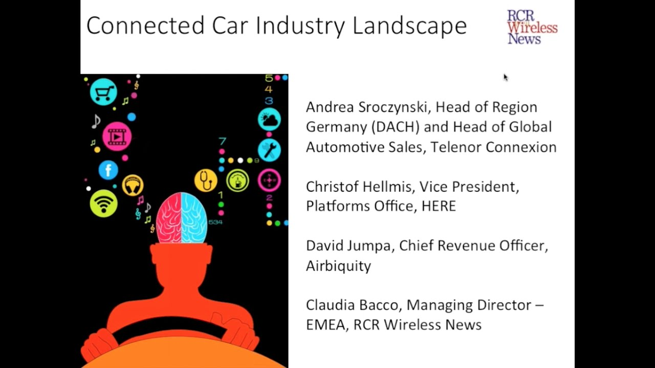 RCR Editorial Webinar: Connected Car Industry Landscape