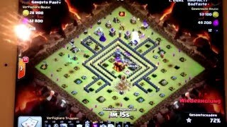 Clash of Clans RH10 Angriff mit 3 Sternen.