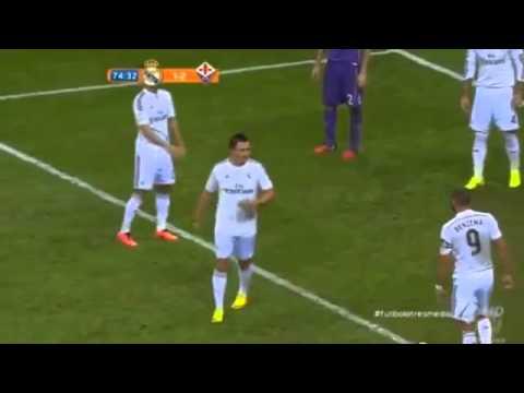 Fake Cristiano Ronaldo in the match   Real Madrid vs Fiorentina 2014 HD
