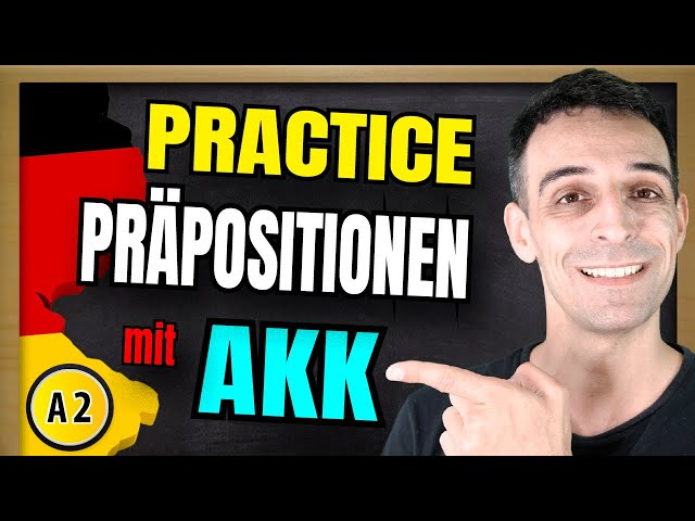 Deutsch Lernen | Präpositionen Mit Akkusativ | German accusative prepositions