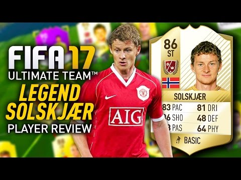 FIFA 17 OLE GUNNAR SOLSKJAER (86) *AWESOME LEGEND* PLAYER REVIEW! FIFA 17 ULTIMATE TEAM!
