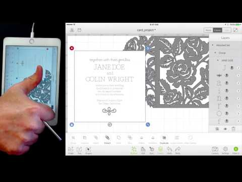 Wedding Invitation iOS Cricut Design Space Version