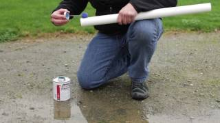 making irrigation pipe repairs pvc solvents for wet conditions