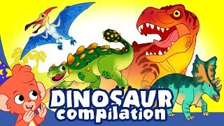 Learn Dinosaurs For Kids   Cute And Scary Dinosaur Cartoons   T Rex Triceratops   Club Baboo