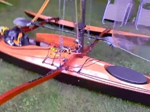 Kayak Trimaran at Mystic WoodenBoat Show