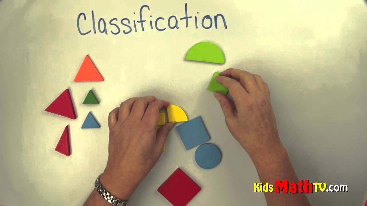 Patterns Classification Lesson With Objects For Kindergarten