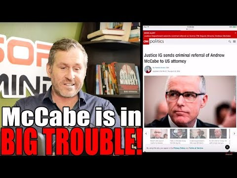 IG Referred McCabe to DOJ for Criminal Charges! | Mike Cernovich