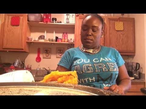 Making sweet potato pies