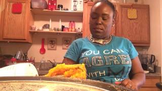 Making sweet potato pies
