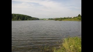 Велопрогулянка до озера у д. Дички. Рибалка. Bike to the lake near the village of Dychka. Fishing.