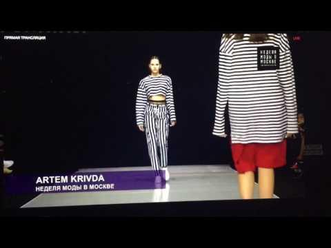 Moscow Fashion Week |ARTEM KRIVDA |Анастасия Безрукова открывает и закрывает показ.