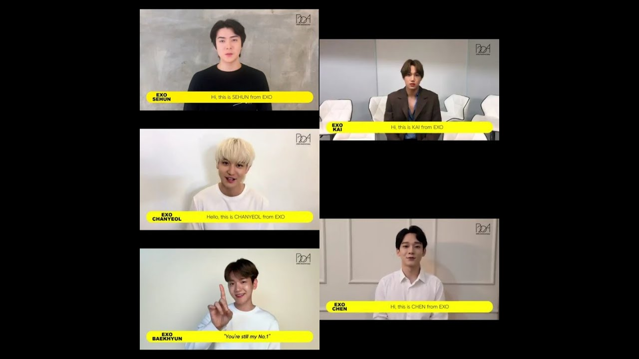 "EXO's ""BoA 20th Anniversary"" congratulatory video (Baekhyun, Chen, Chanyeol, Kai, Sehun)"