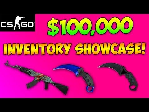 CS GO - $100,000 Inventory Showcase! Stattrak Crimson Webs & Sapphire Knives! (CS:GO)