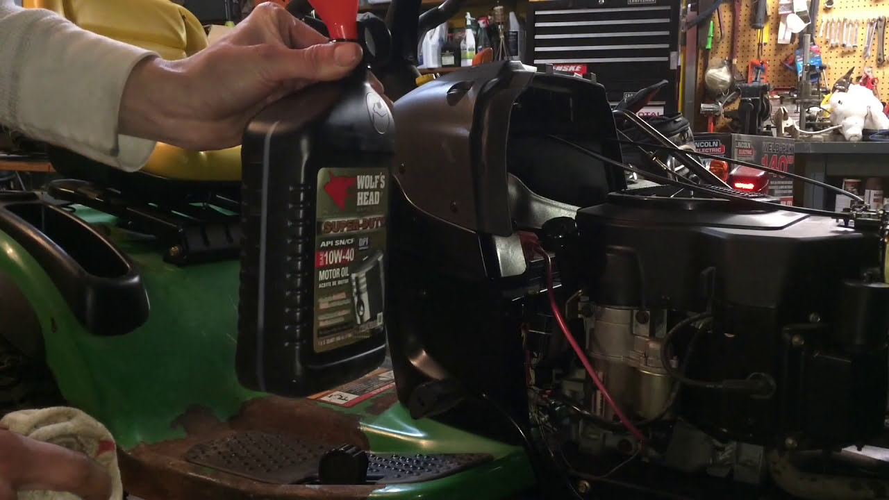 How To Change The Oil In A John Deere Lt130 Lawn Tractor
