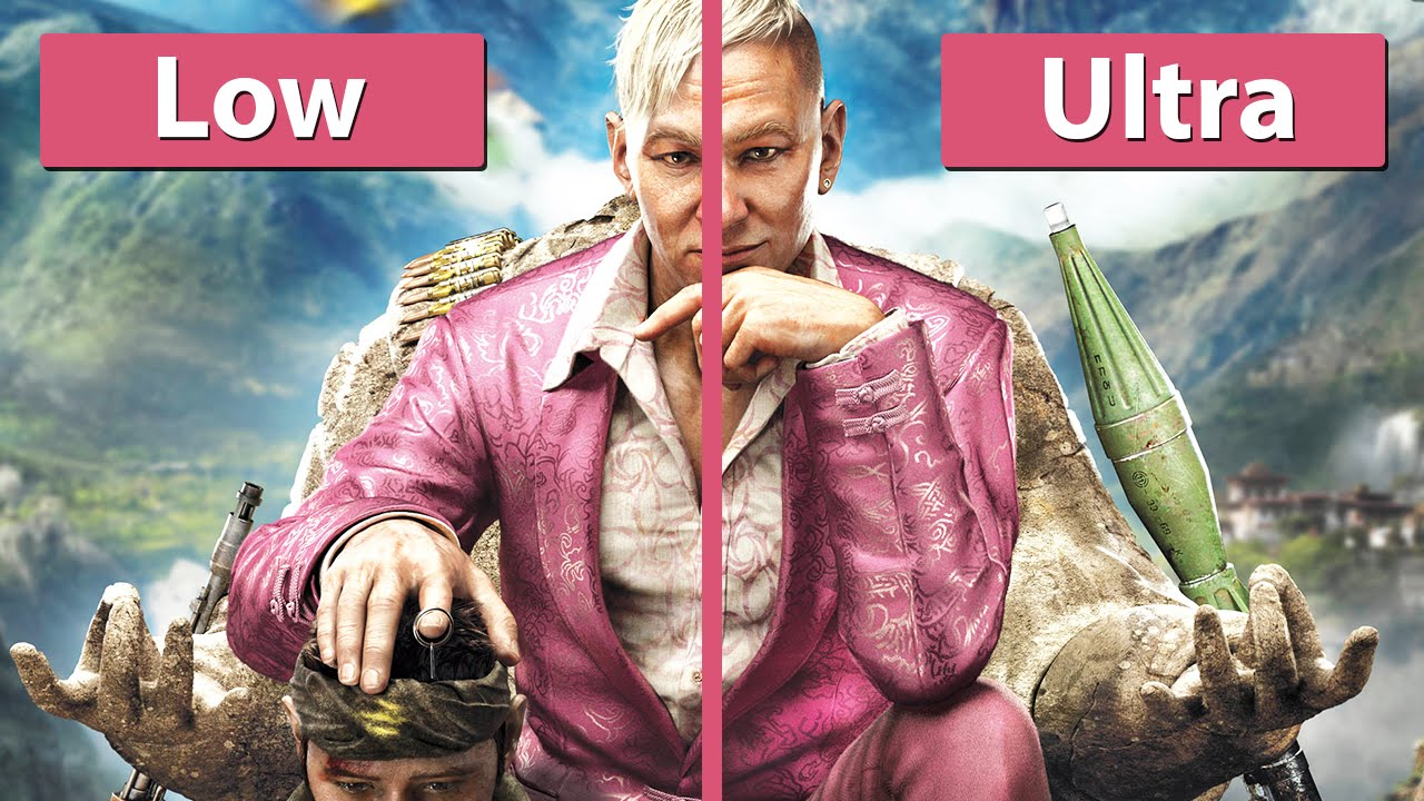 far cry 4 – pc low vs. ultra graphics comparison [fullhd] - youtube