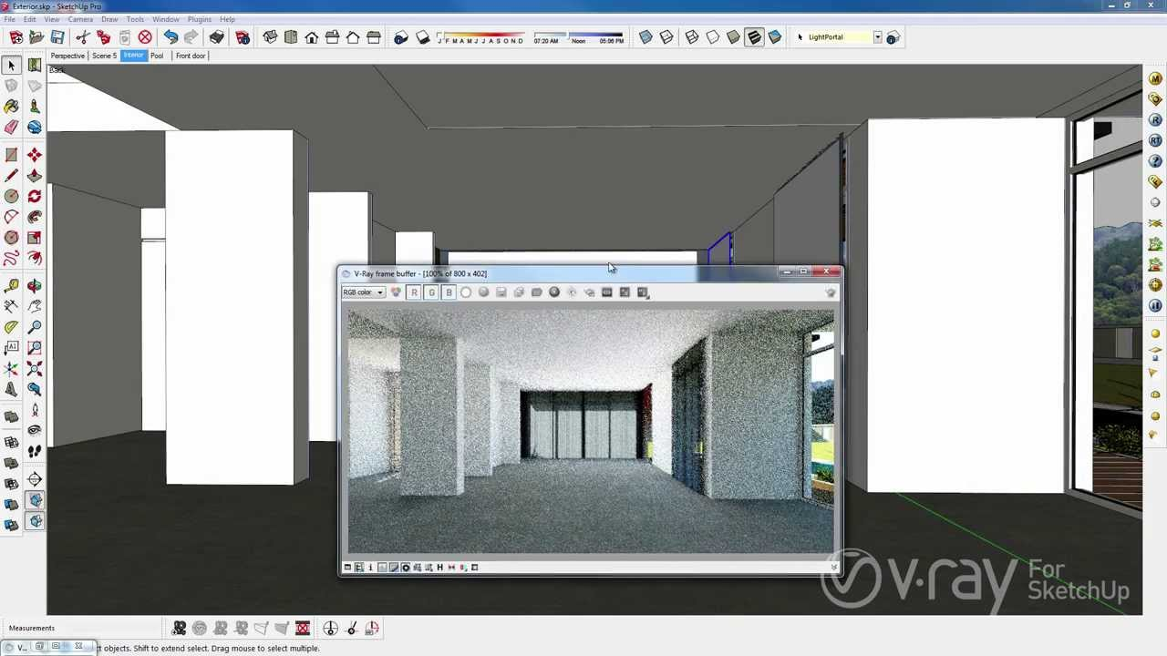 V-Ray 2.0 for SketchUp - V-Ray RT CPU and GPU - YouTube