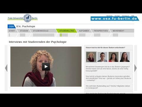 B.Sc. Psychologie Studieren An Der Freien Universität Berlin