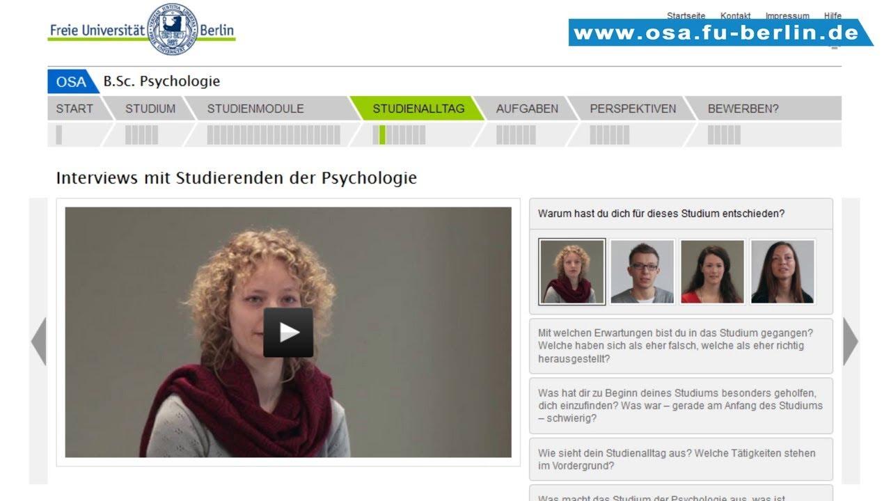 bsc psychologie studieren an der freien universitt berlin - Fu Berlin Bewerbung