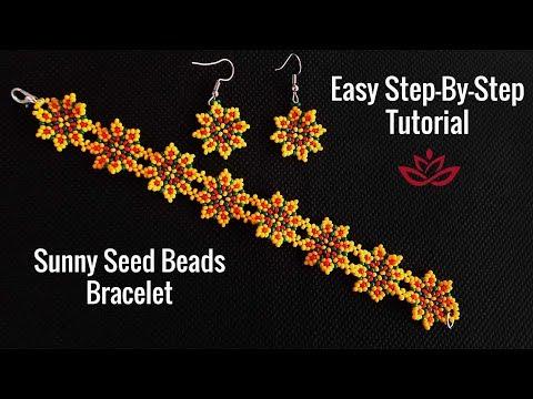 Sunny Spring Seed Beads Bracelet - Tutorial. How to Make DIY Seed Beads Bracelet?
