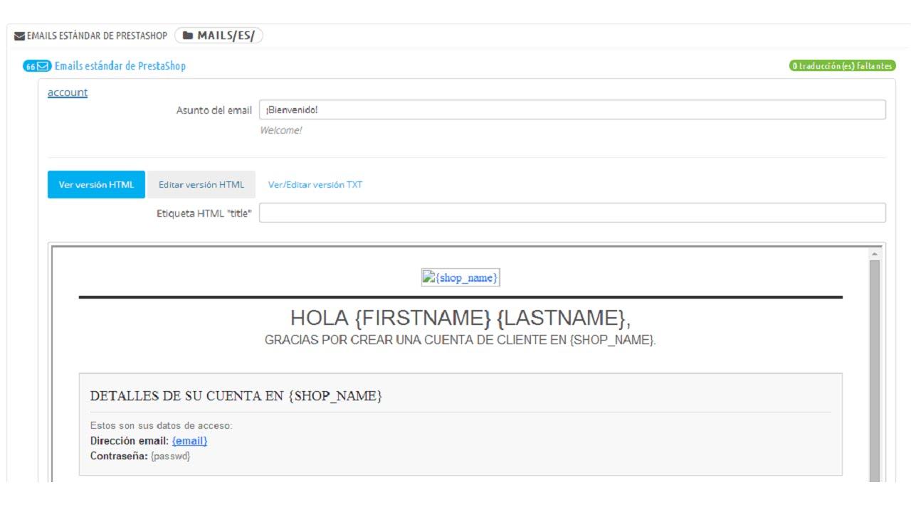 Personalizar plantillas de correo Prestashop 1.6 - YouTube