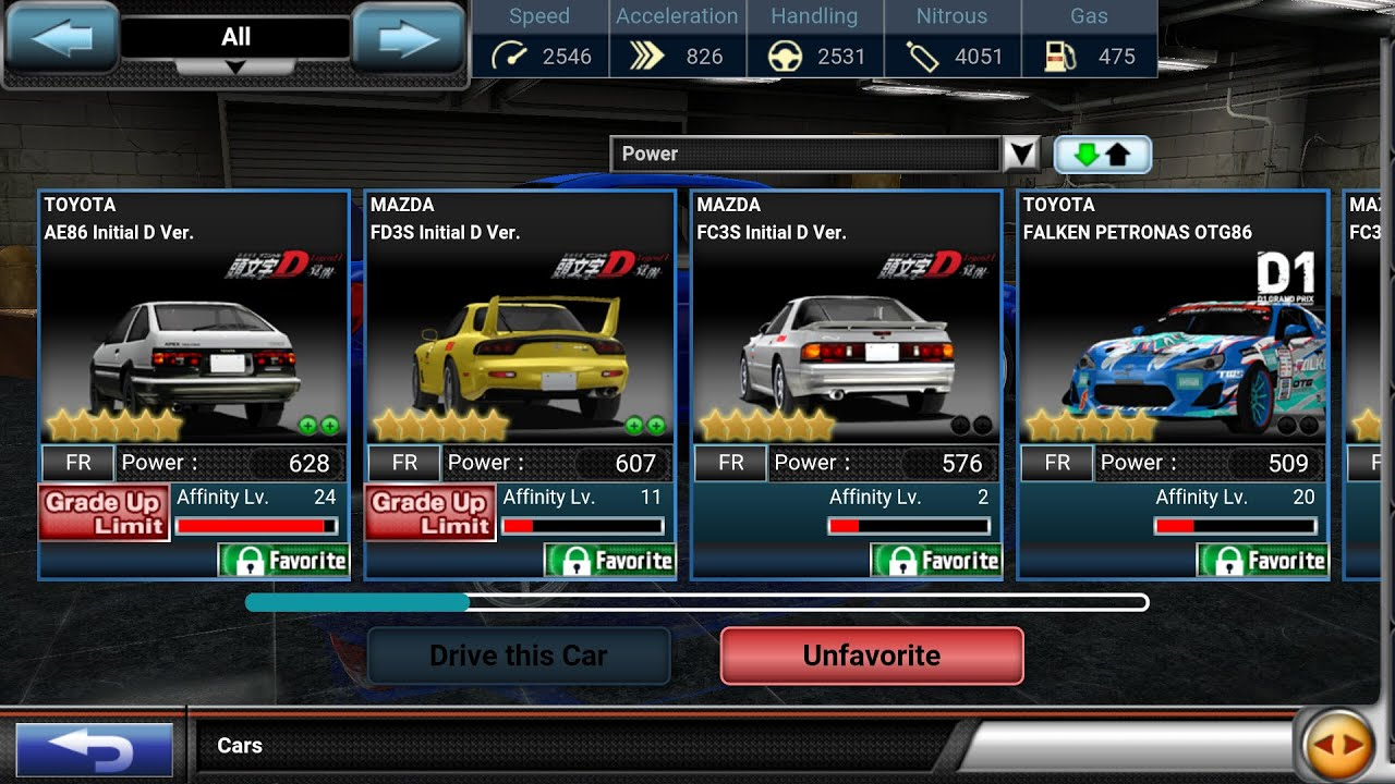 Drift spirits 6☆ initial D legend 1 event cars - YouTube