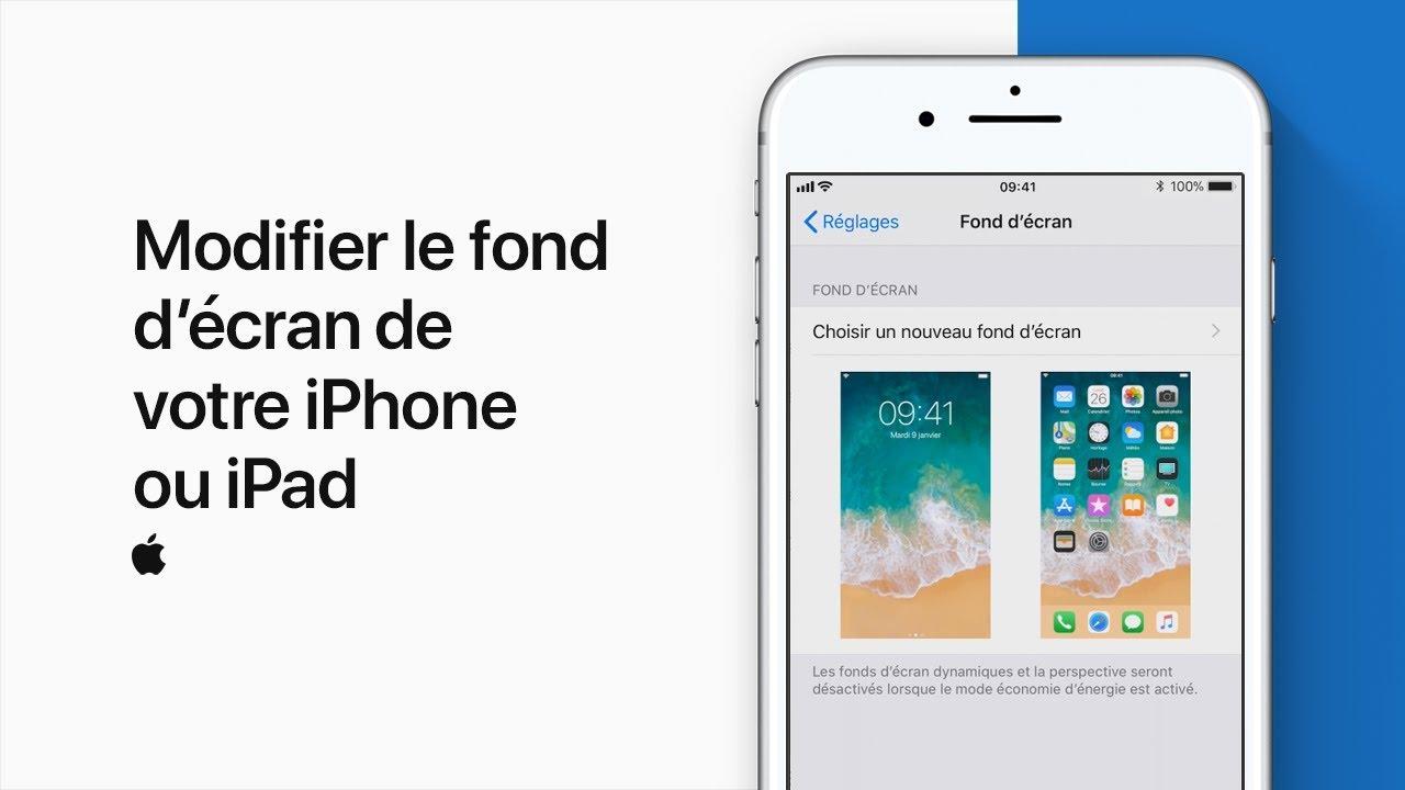 foto de Modifier le fond d'écran de votre iPhone ou iPad — Assistance ...