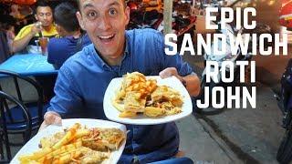 ROTI JOHN Malaysia - epic STREET FOOD sandwich in KUALA LUMPUR | Food and Travel Channel | Malaysia