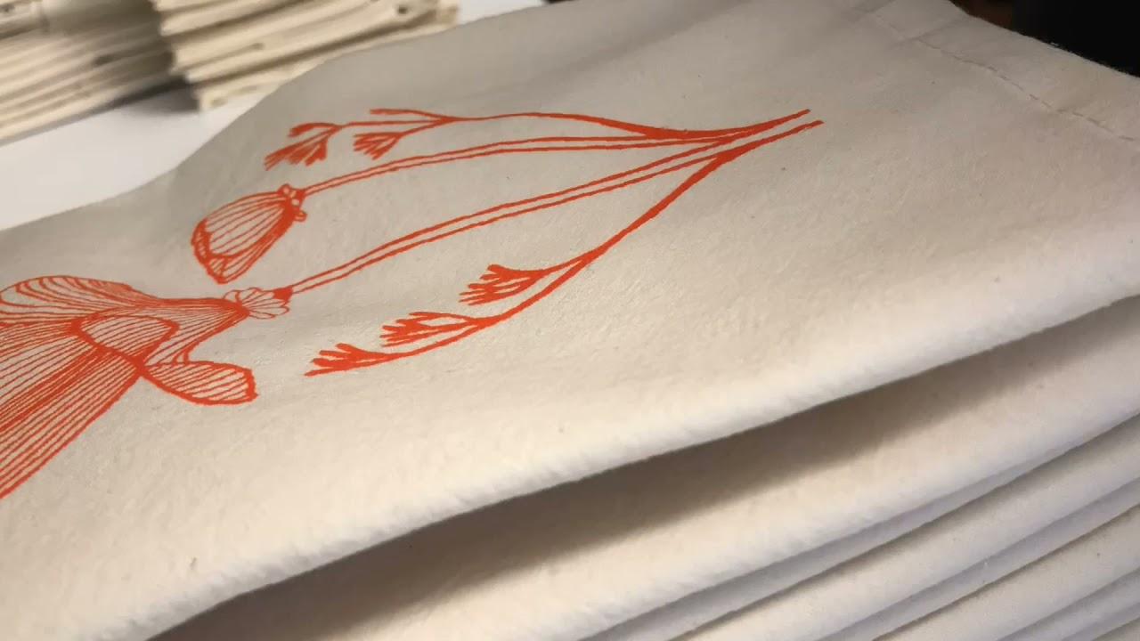 Screen Printing Kitchen Towels