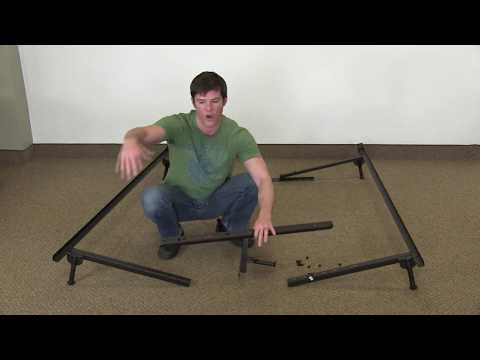 How to put together a King metal bed frame. Super simple!