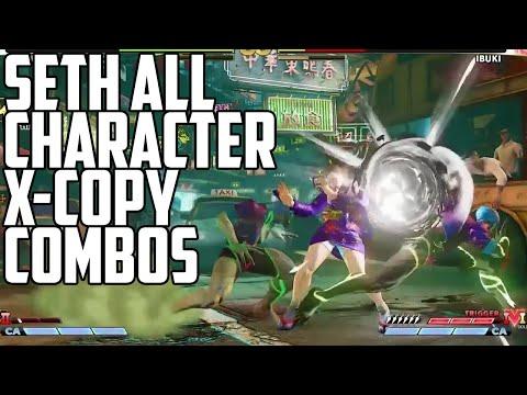 20 Sec Long, 61-Hit Combo!! SETH: All Character X-Copy Combo Showcase