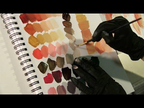 ASMR Acrylic Swatches: Upclose paint brush sounds