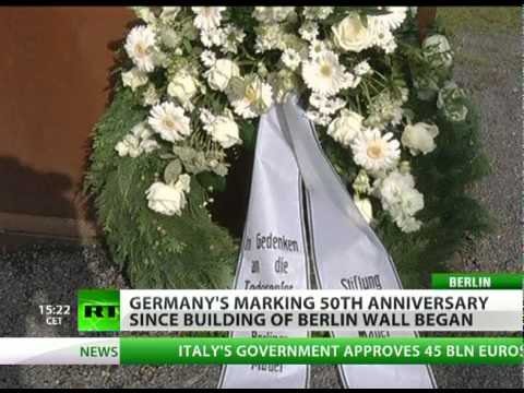 Berlin Wall 50th anniversary marked in Germany