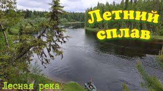 Сплав по лесной реке  ( Рыбалка, приключения , лесная изба,ЯЗЬ здоровенный яяязь)
