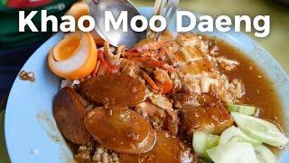 Khao Moo Daeng at Si Morakot Restaurant (ข้าวหมูแดงสีมรกต)