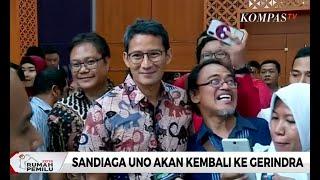 Sandiaga Uno akan Kembali Gabung dengan Gerindra