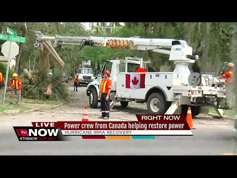 Power crew from Canada helping restore power